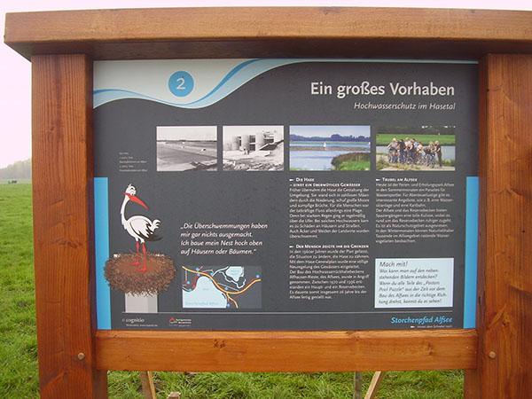 Schautafeln am Alfsee
