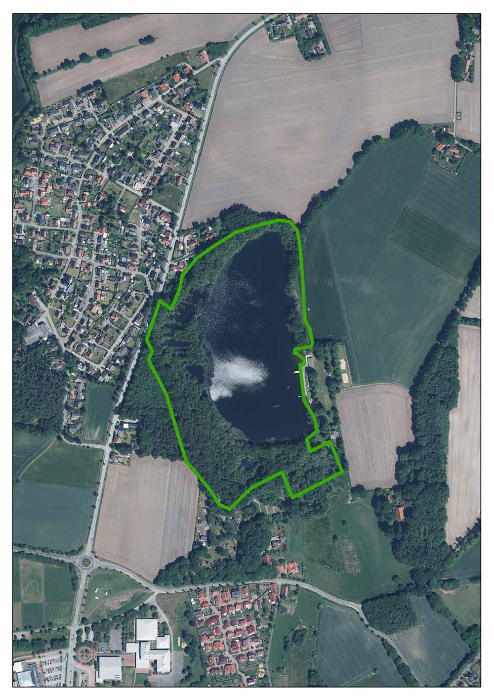 Luftaufnahme Darnsee